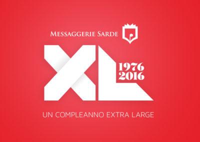 Prometeodesign - Messaggerie Sarde - logo 40 anni